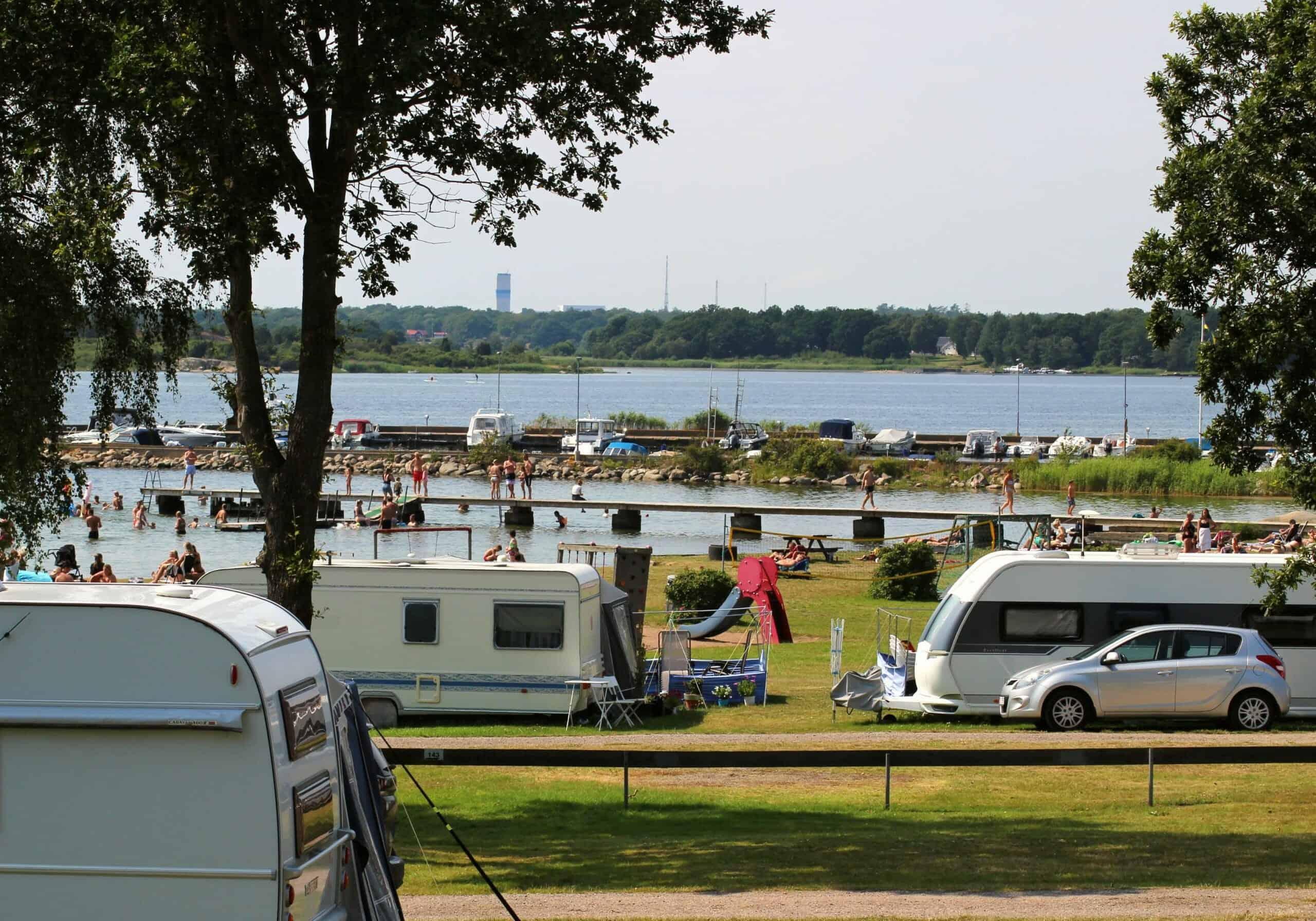 Campingtomt husvagn/husbil blå zon inkl el